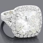 Unique Cushion Diamond Engagement Ring 10.53ct